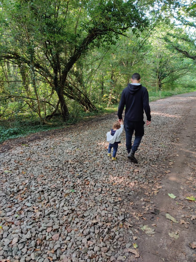 September 2021 results - Our daughter with her uncle in Epping forest